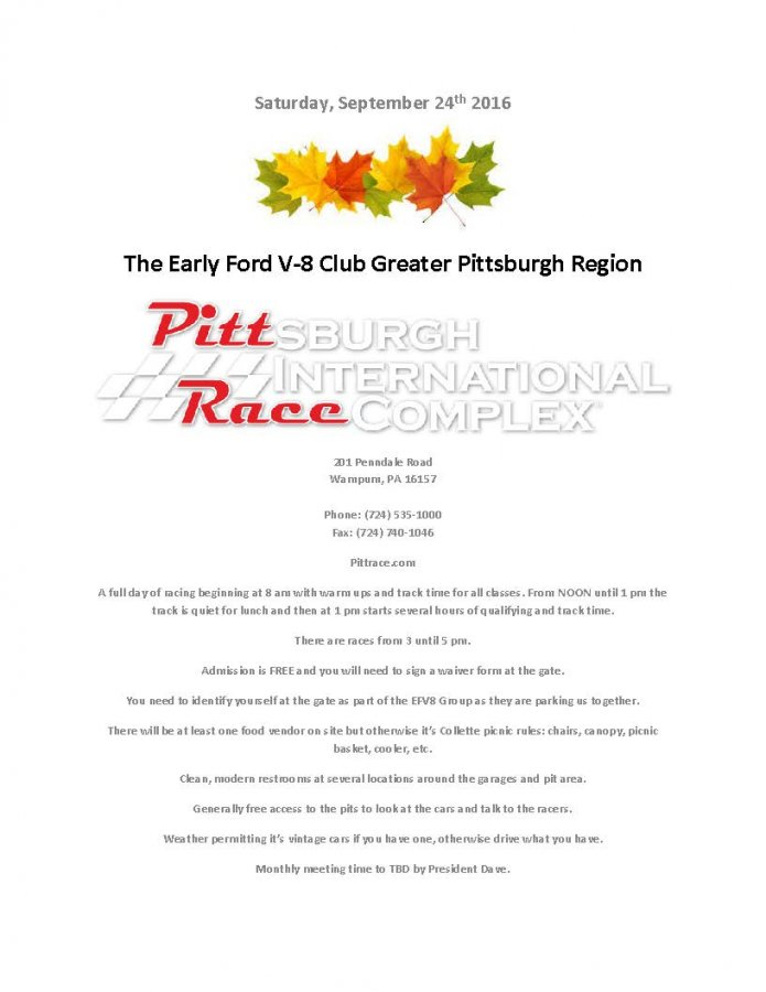 2016 GPRG48 Outing To Pitt Race