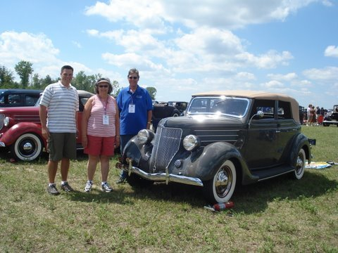 1936 Ford Four Door Convertible - John Paul, Mary, Jon