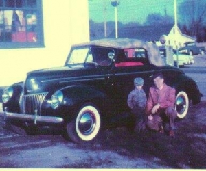 1939 Ford Convertible - Young Bob (on left)