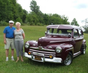 1946 Ford Four Door Sedan - Les and Judy