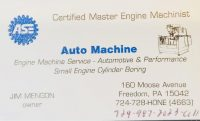 Certified Master Engine Machinist ASE